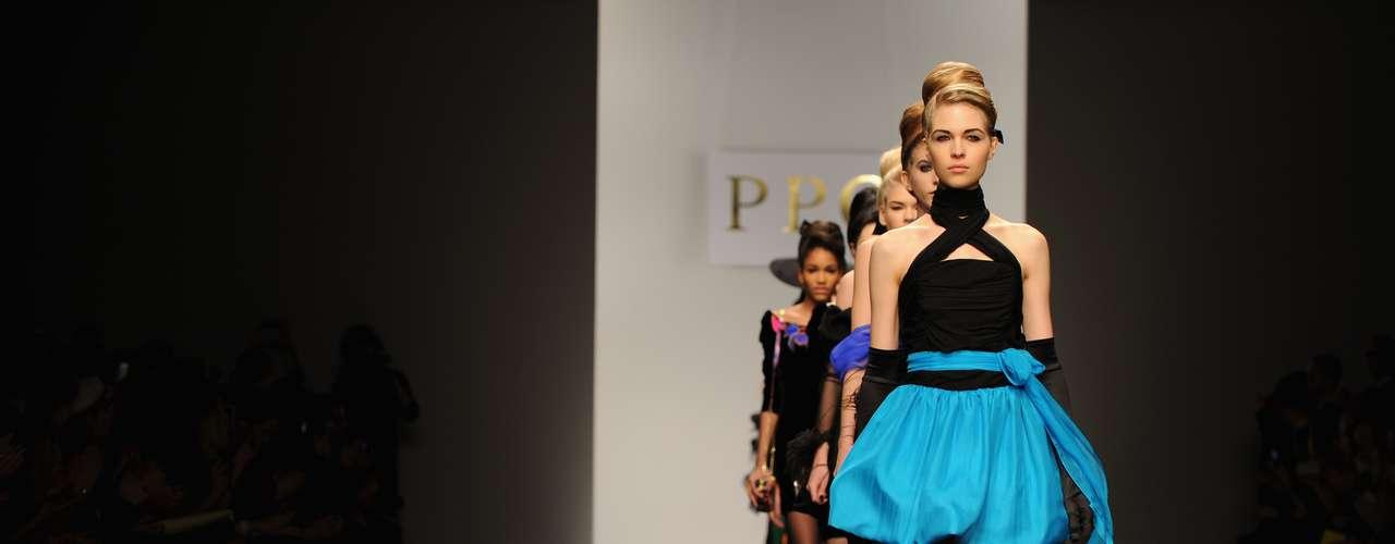 A grife PPQ foi um dos destaques do primeiro dia da semana de moda de Londres, nesta sexta-feira (15)