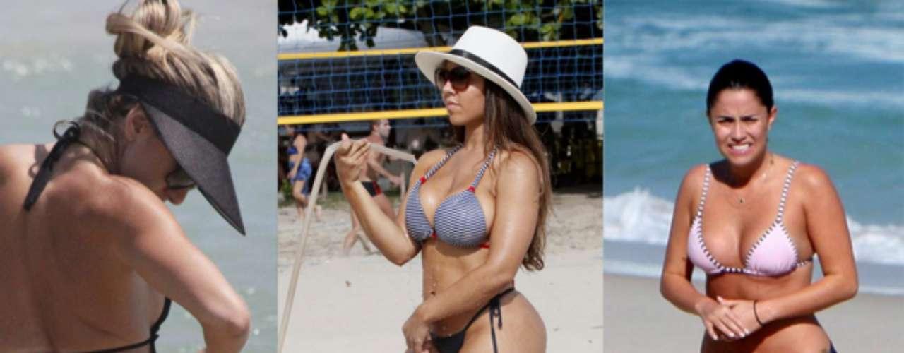 Confira 100 famosas que foram clicadas na praia, entre elas: Andrea de Andrade, Mulher Melão e Fernanda Vasconcellos