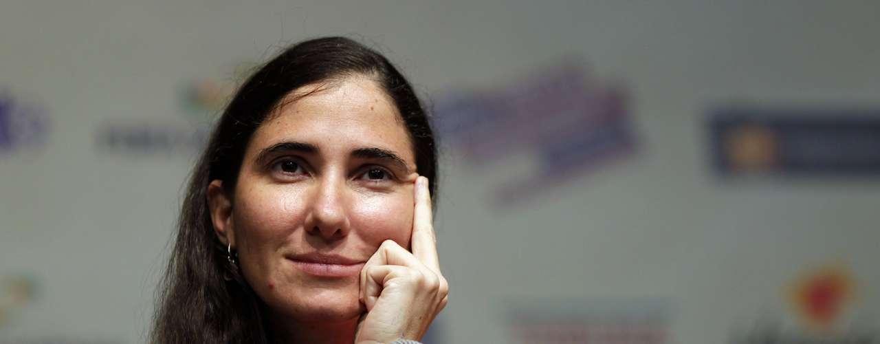 No evento, a cubana Yoani também garantiu que não tem aptidão para a carreira política