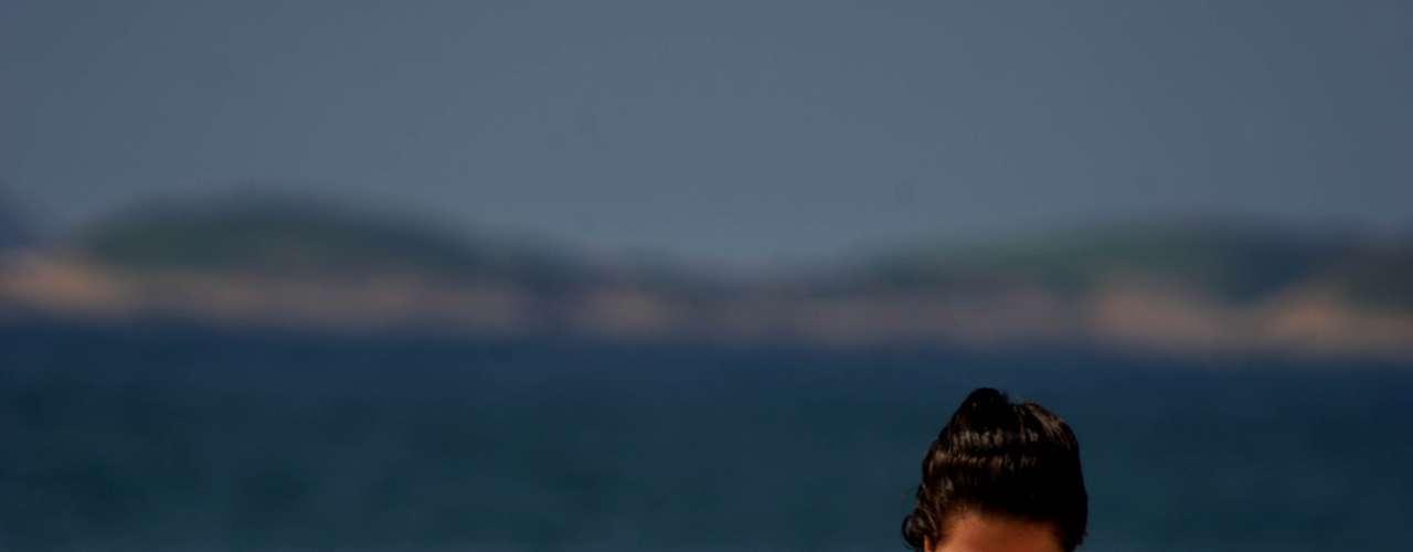 20 de fevereiro - Movimento de turistas e cariocas na praia de Ipanema, zona sul do Rio de Janeiro