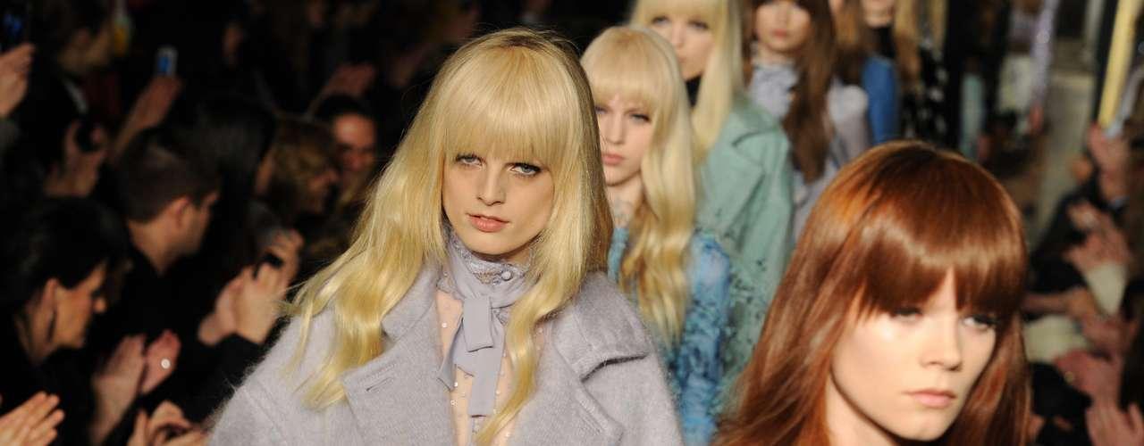 Emilio Pucci levou modelos com franja para sua passarela