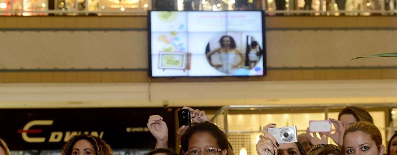 Público ficou empolgado com a presença dos famosos