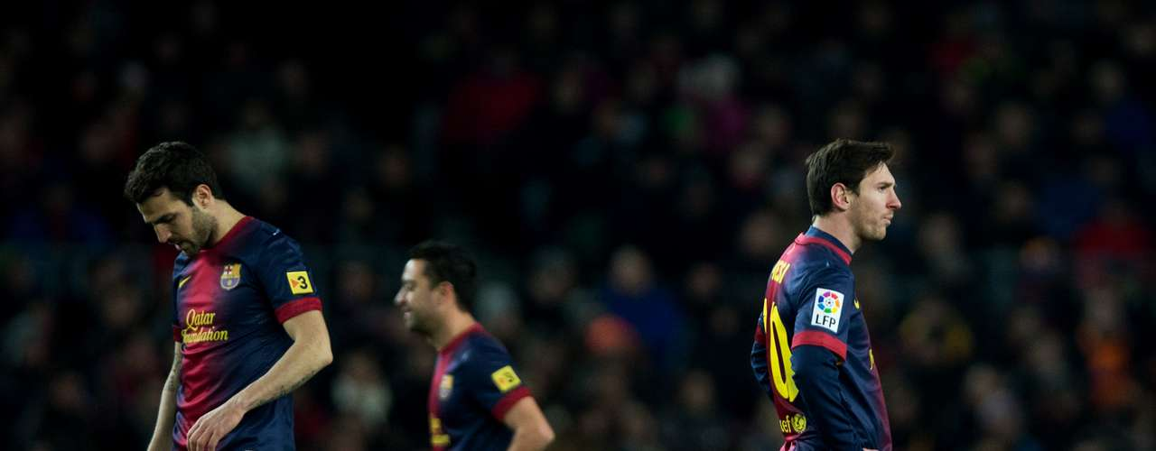 Jogadores do Barcelona lamentam derrota no Camp Nou