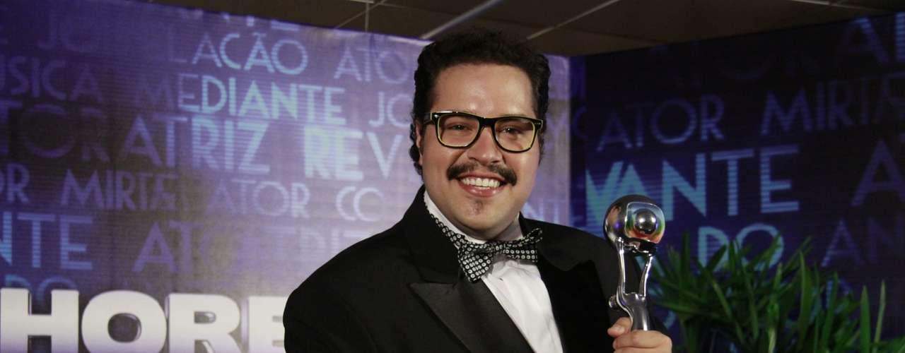 Famosos participam da 17° edição do prêmio 'Melhores do Ano', no Domingão do Faustão.Na foto, Tiago Abravanel