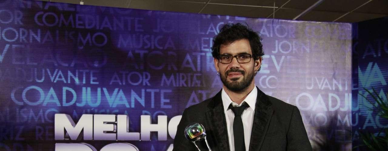 Juliano Cazarré levou o prêmio de melhor ator coadjuvante