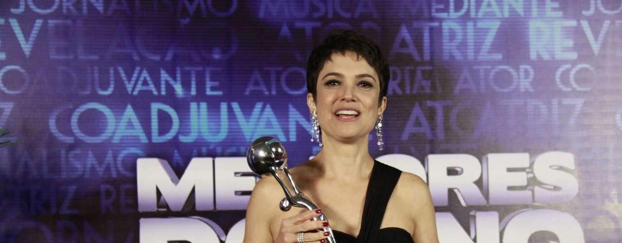 Sandra Annenberg foi a vencedora na categoria telejornalismo