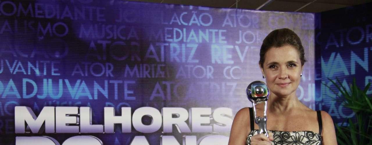 Famosos participam da 17° edição do prêmio 'Melhores do Ano', no Domingão do Faustão.Adriana Esteves levou o prêmio de melhor atriz, pela atuação como Carminha, em 'Avenida Brasil'