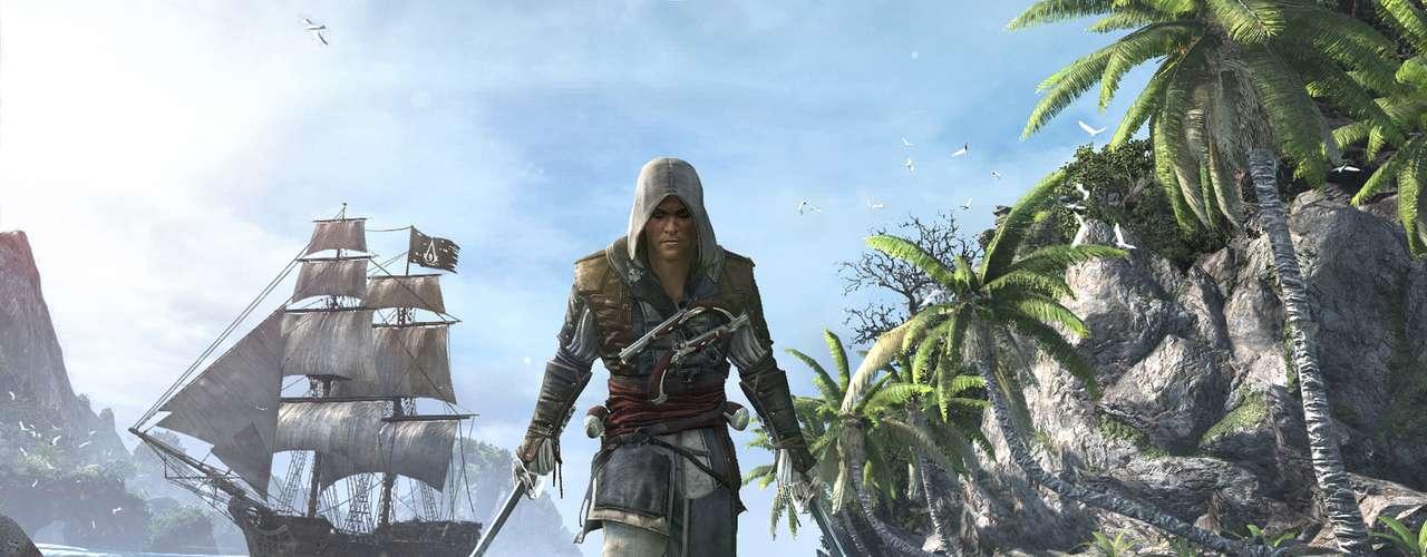 A Ubisoft anunciou para 26 de outubro o lançamento de 'Assassins Creed IV: Black Flag', para PS3 e PS4, Xbox 360, Wii U e PC. Com o enredo sobre a 'era de ouro da pirataria', o game apresenta o personagem Edward Kenway, que se envolve na longa guerra entre Assassinos e Templários