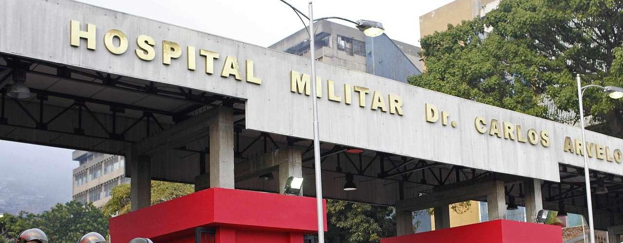 5 de março -Exército faz a segurança do Hospital Militar em Caracas