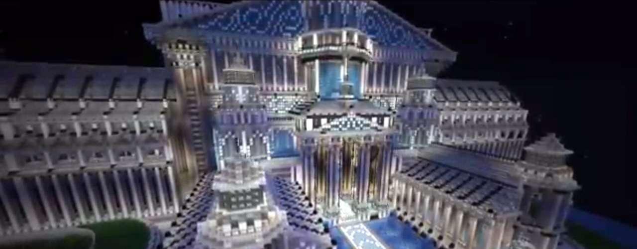 O jogador construiu a cidade sozinha em Minecraft e agora se prepara para montar uma cidade no estilo sci-fi