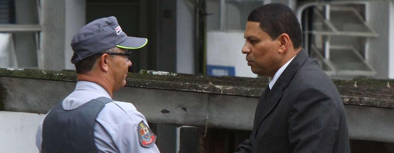 14 de março -Mizael Bispo, acusado de matar Mércia Nakashima, chega parao quarto dia de seu julgamento no Fórum de Guarulhos