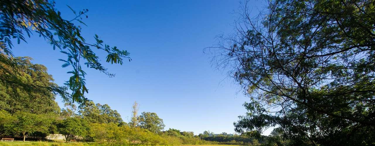 21 de março Manhã de sol no parque Jardim do Lago, em Canoas, região metropolitana de Porto Alegre, onde fez mínima de15ºC