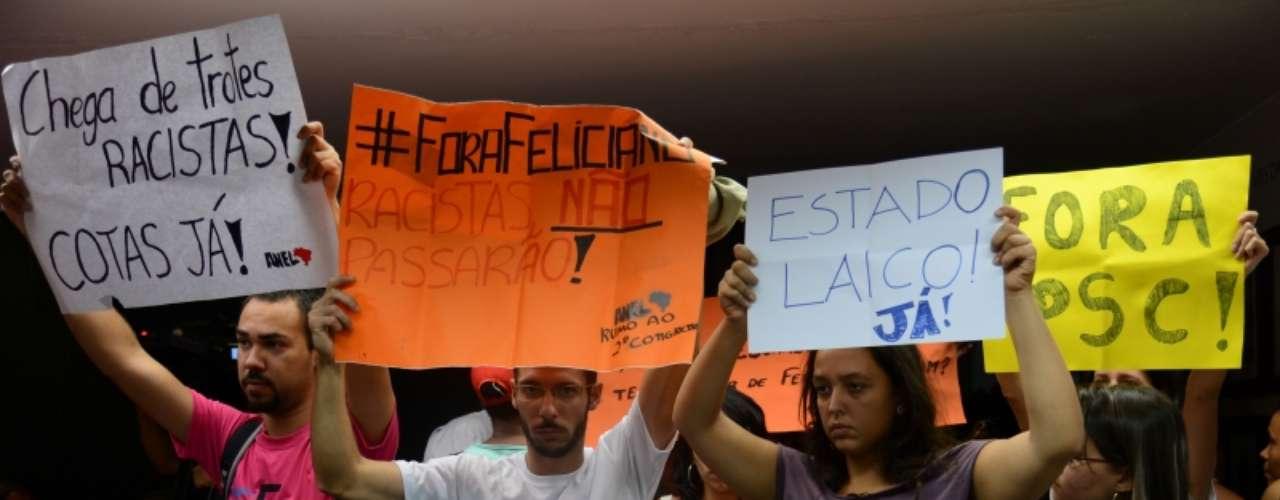 Deputado é alvo de protestos desde que assumiu a presidência da Comissão de Direitos Humanos da Câmara dos Deputados