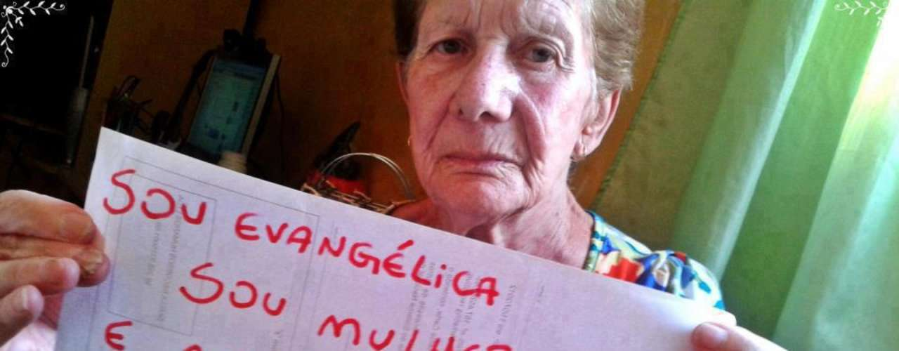 Idosa diz ser evangélica, mas nega que o deputado do PSC a represente