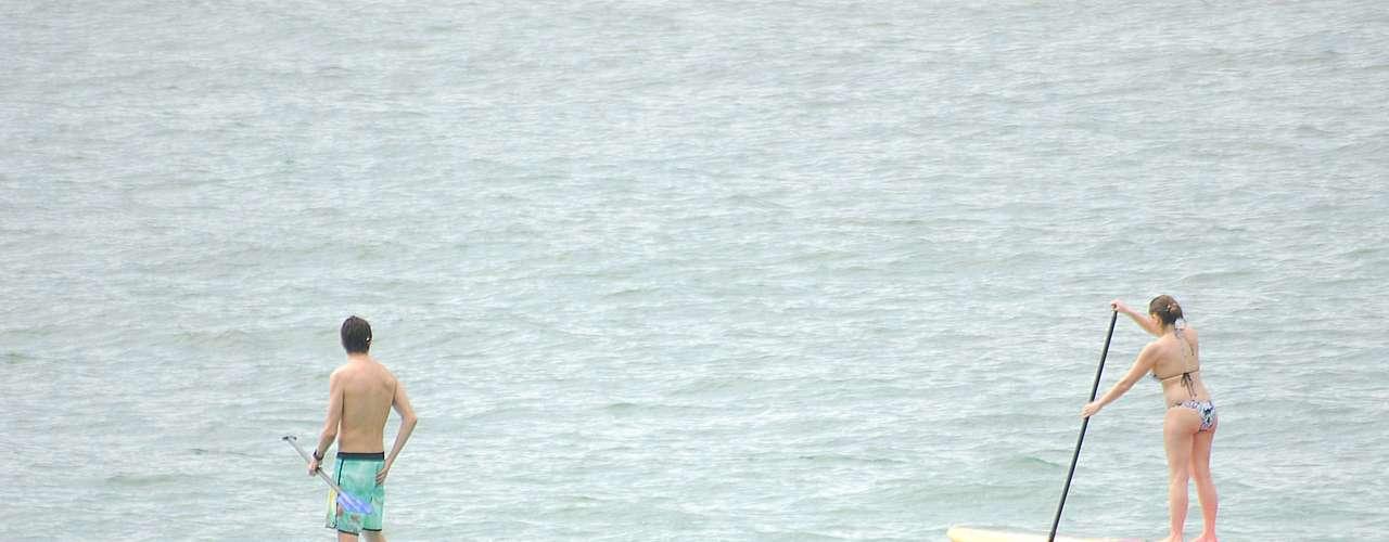 6 de abril Esportes aquáticos também conquistaram que esteve na praia carioca