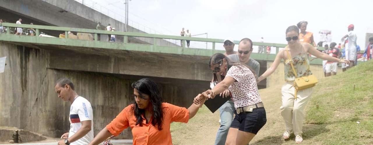 Torcedores não encontraram tumulto para se organizar e entrar na Arena Fonte Nova