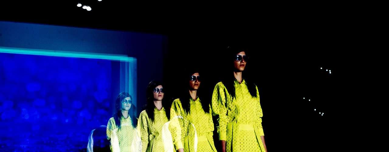 Verde-limão apareceu na passarela daCoca-Cola Clothing para o Verão 2014