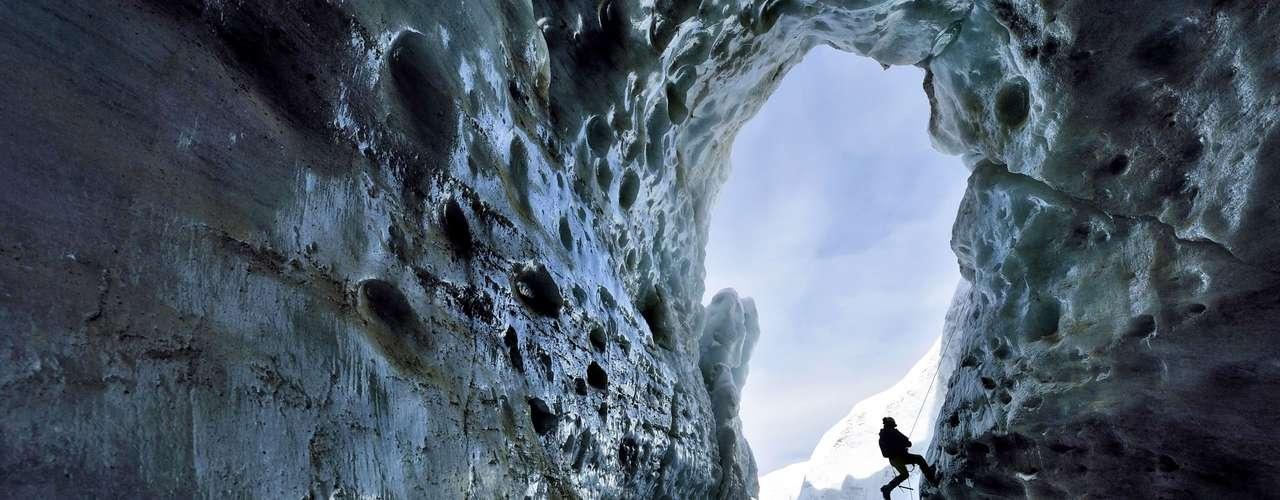 Os registros foram feitos na geleira Gorner