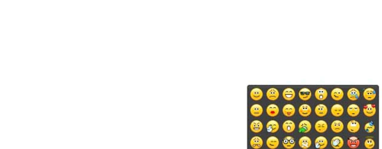 O Skype também tem emoticons. Para conhecer as opções, clique no emoticon à direita da caixa de texto