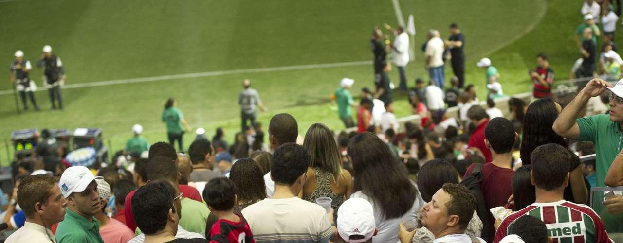Convidados se divertiram com o jogo entre amigos de Bebeto e amigos de Ronaldo