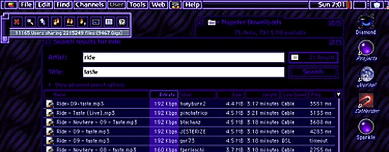 O Napster, criado em 1999, foi o primeiro serviço de compartilhamento peer-to-peer (P2P) usado majoritariamente para a troca de músicas em formato MP3. Mais do que um serviço de troca de arquivos, o Napster foi o precursor de uma grande batalha que perdura até hoje entre os serviços P2P, que permitem a circulação gratuita de conteúdos (inclusive os protegidos por direitos autorais), e os gigantes da indústria fonográfica - Hollywood, como prova o caso Megaupload, atualmente também tenta se armar contra a tecnologia