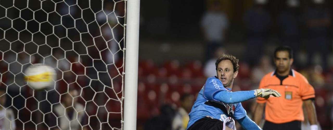 Rogério Ceni observa chute de Pato entrar no gol do Morumbi