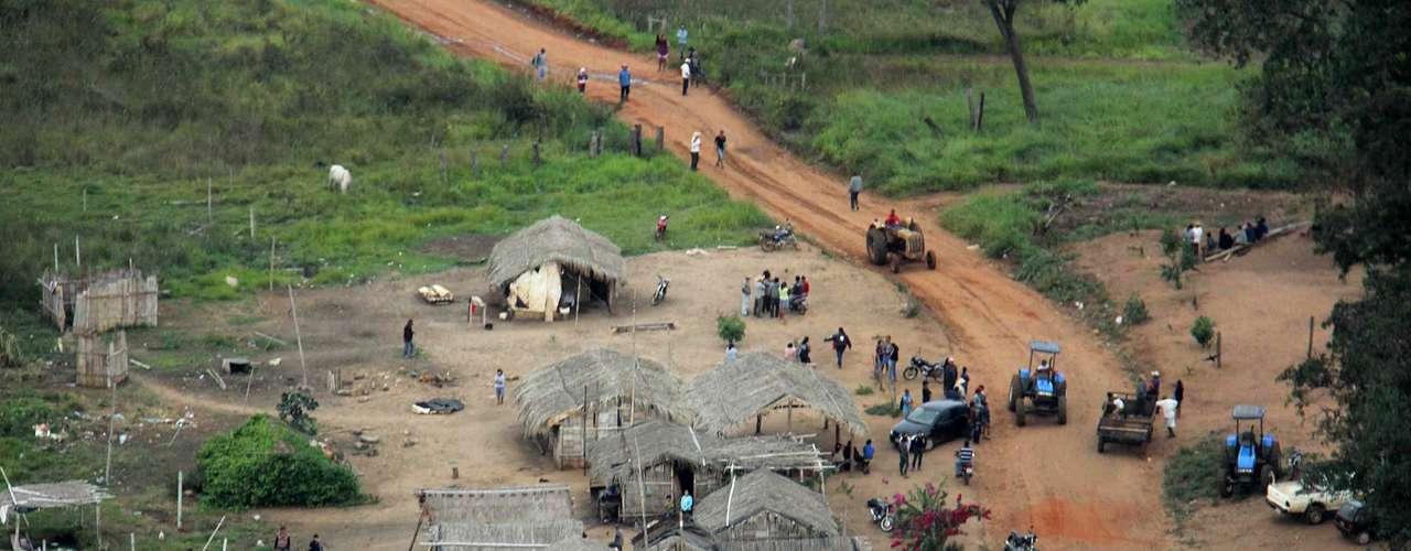 30 de maio -A propriedade fica no interior da Terra Indígena Buriti, declarada pelo Ministério da Justiça como de ocupação tradicional em 2010
