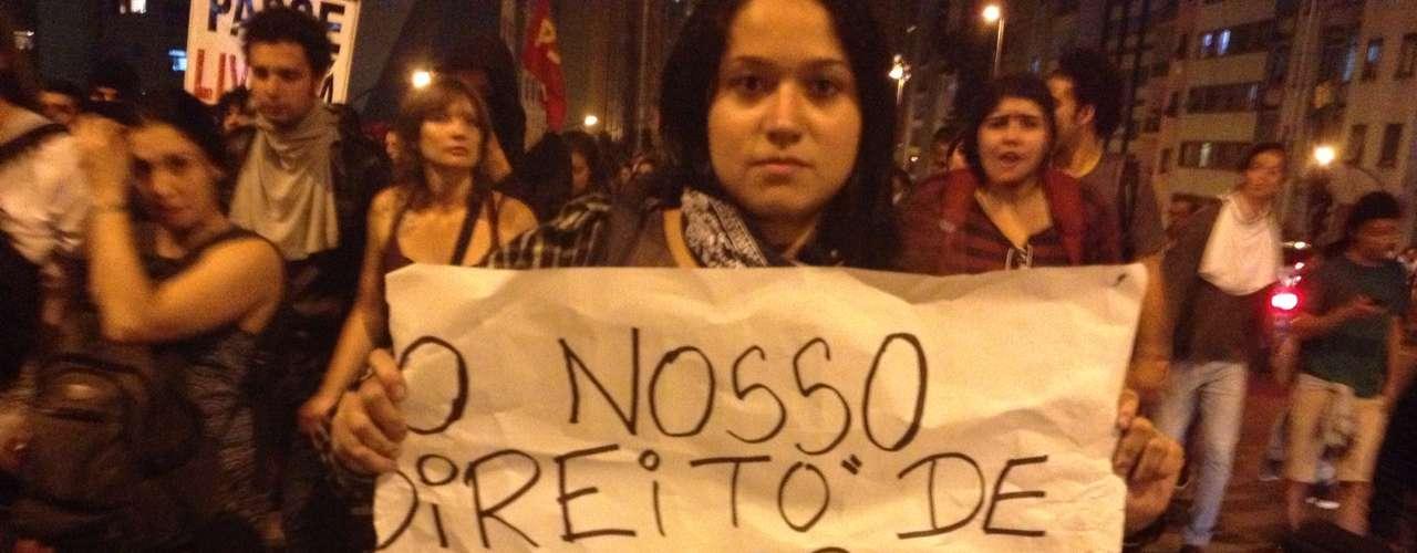 6 de junho -O reajuste da tarifa foi questionado pela manifestante
