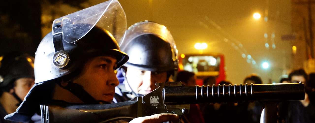 11 de junho-A Tropa de Choque e a Força Tática da Polícia Militar foram acionadas