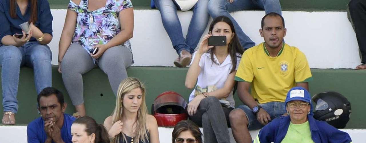 Público acompanhou com atenção ao treinamento do time de Luiz Felipe Scolari