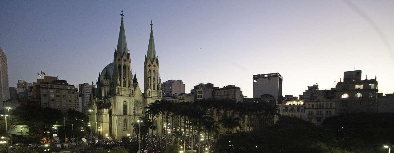 18 de junho Estação de Metrô da Sé, no Centro de São Paulo, ficou completamente interditada pelos manifestantes