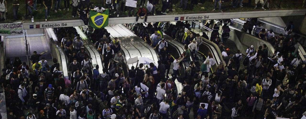 18 de junho A prefeitura de São Paulo reforçou a segurança da Guarda Civil Metropolitana nesta noite