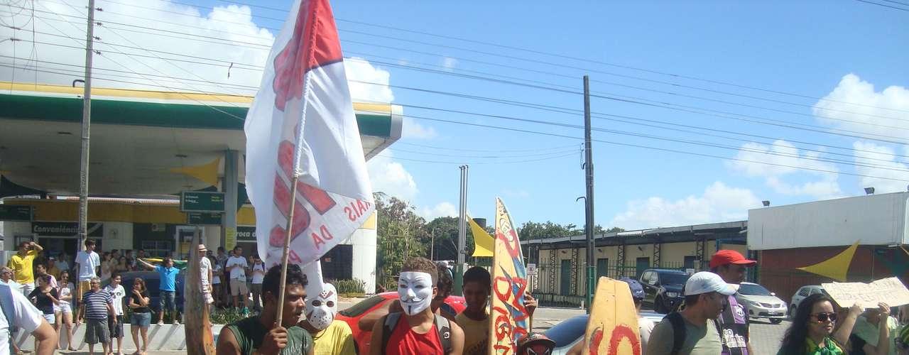 Manifestantes protestaram contra a Copa do Mundo