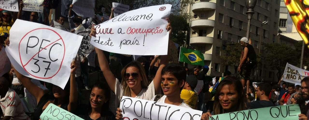22 de junho - Concentração começou por volta das 10h na praça Sete, no centro de Belo Horizonte