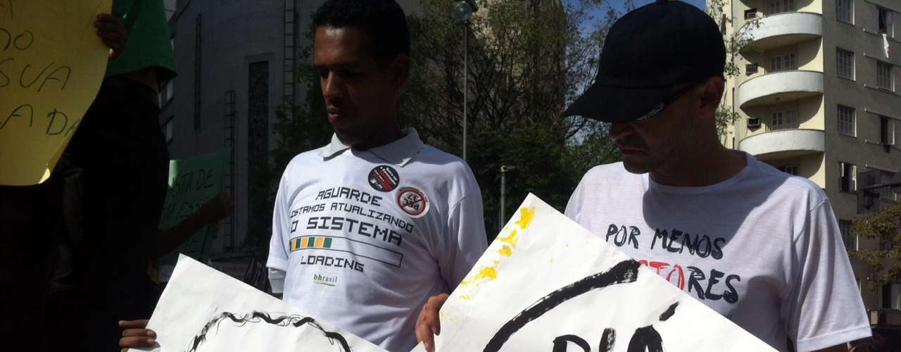 22 de junho -Presidente Dilma Rousseff foi um dos alvos do protesto deste sábado em Belo Horizonte