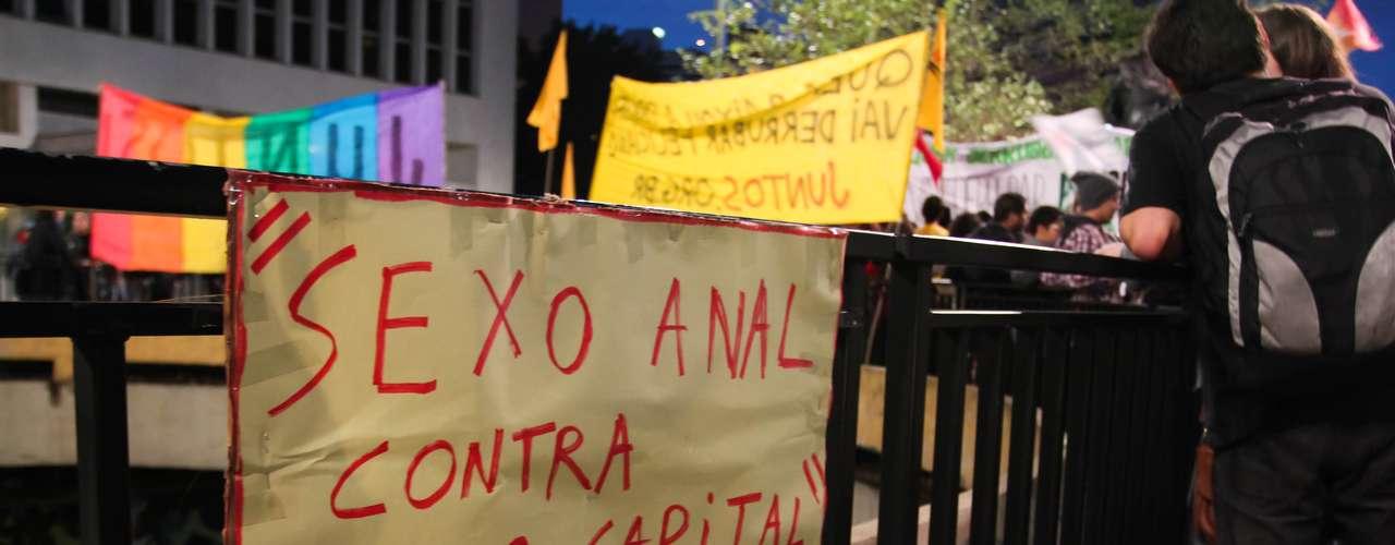26 de junho - Este foi o segundo protesto realizado na capital paulista contra o parlamentar em menos de uma semana