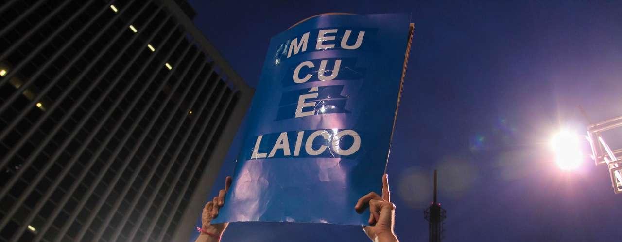 26 de junho - A manifestação começou com uma passeata na avenida Paulista, por volta das 19h, e terminou com um \