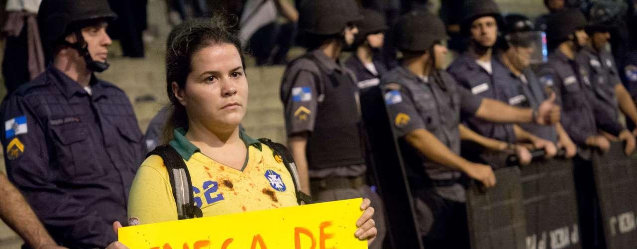 27 de junho -  Protesto foi pacífico nesta quinta-feira no Rio de Janeiro
