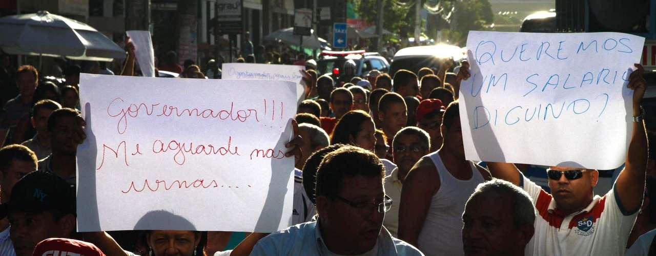 5 de julho - Sindicato dos Rodoviários do Recife fez uma caminhada em protesto as ameaças nesta sexta-feira
