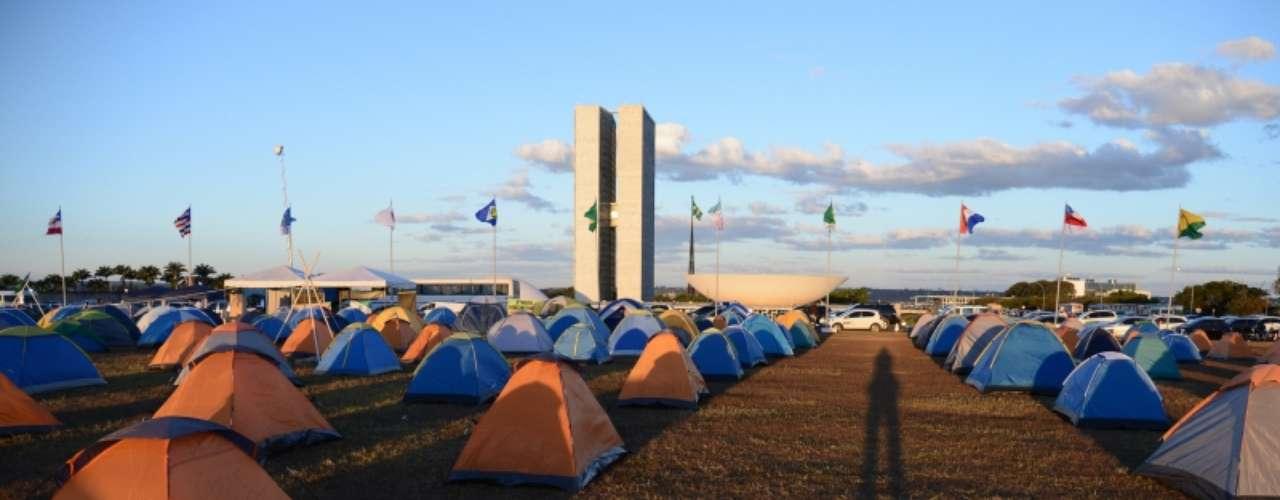 9 de julho - Eles estão acampados desde segunda-feira (8) no local