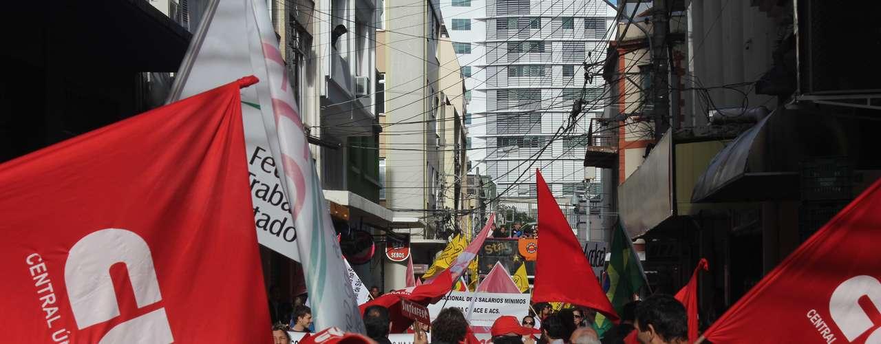 Florianópolis O ato na capital catarinense acabou com um confronto entre a polícia e manifestantes
