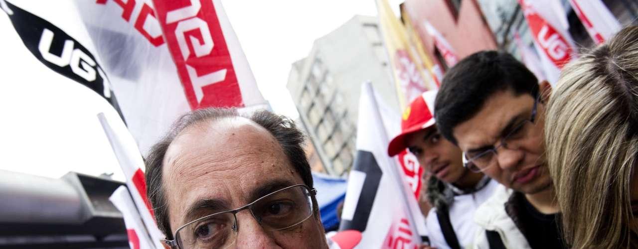 São Paulo O presidente da União Geral dos Trabalhadores (UGT), Ricardo Patah, estava presente na manifestação