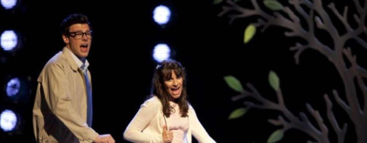 Cory eLea Michele, sua namorada, em cena de Glee