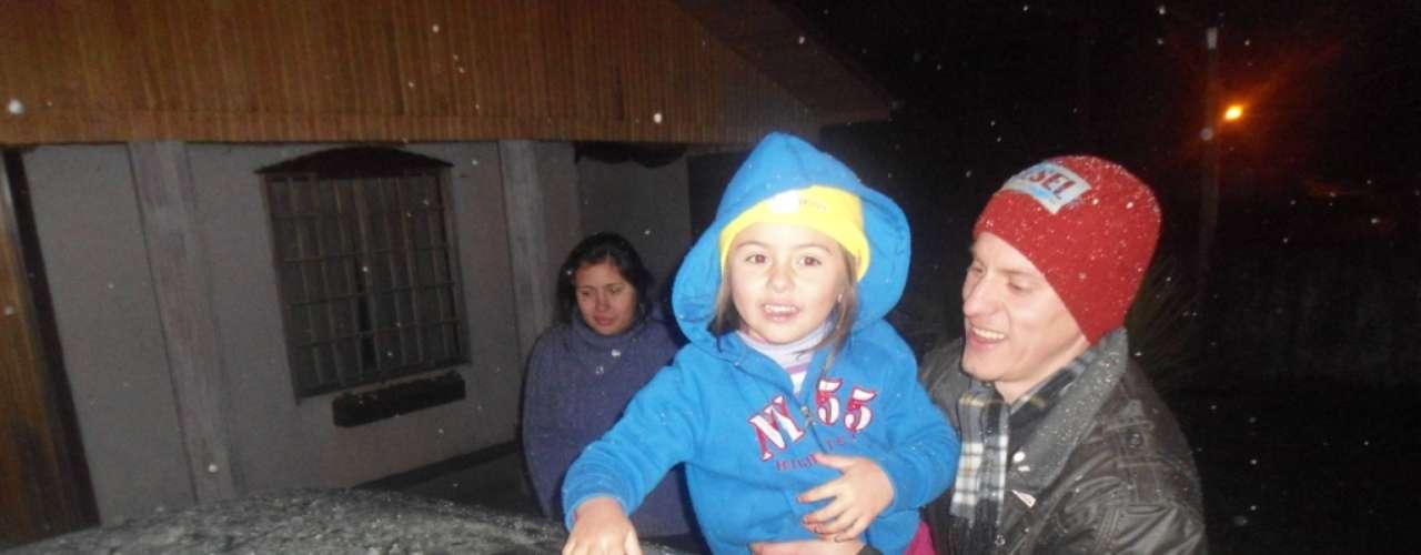 22 de julho -Em Lebon Régis-SC, famílias aproveitaram e divertiram-se com bonecos e bolas de neve