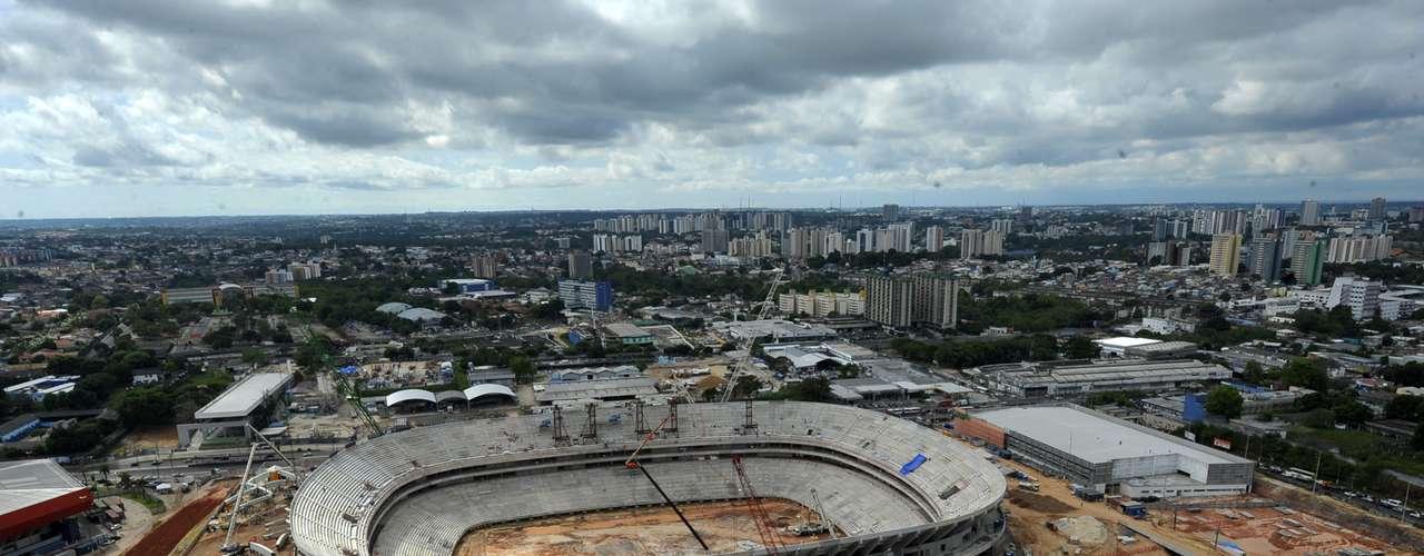 25 de julho de 2013: Arena da Amazônia alcança 68% de índice de conclusão de obras
