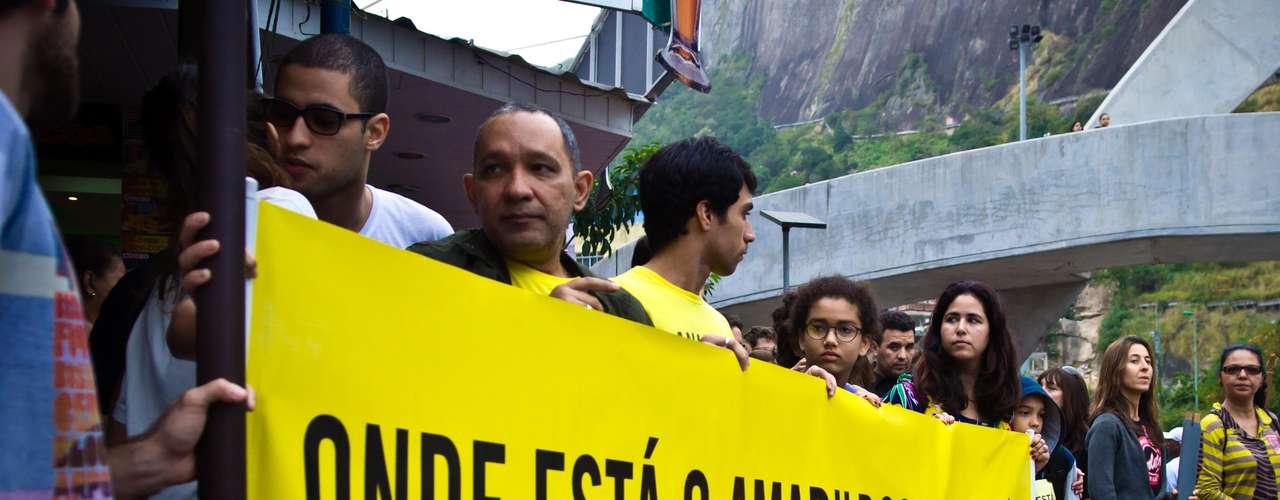 11 de agosto - Amarildo de Souza desapareceu no dia 14 de julho, quando foi levado por policiais da Unidade de Polícia Pacificadora (UPP) da Rocinha