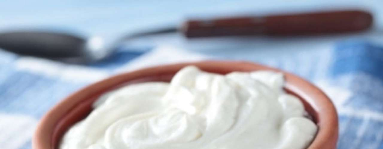 Iogurte grego caseiro.