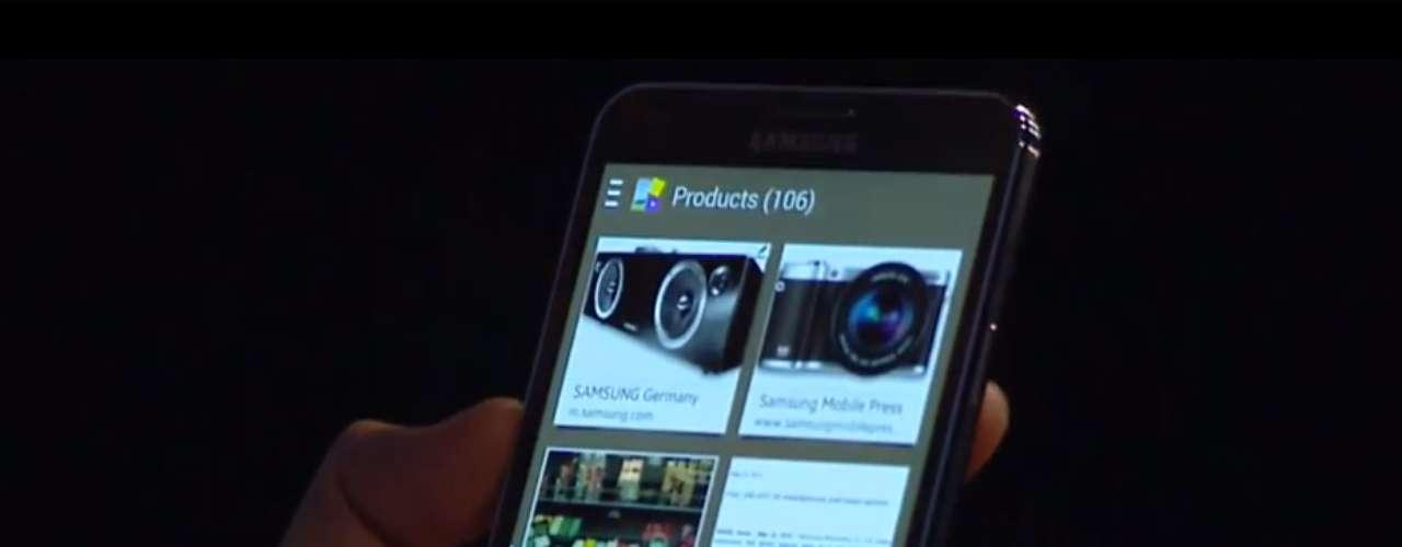 Samsung Galaxy Note 3 - foblet, segmento intermediário entre smartphone e tablet, tem tela de 5,7 polegadas Super AMOLED FullHD e 3GB de RAM. A câmera principal tem 13 megapixels e faz vídeos em FullHD