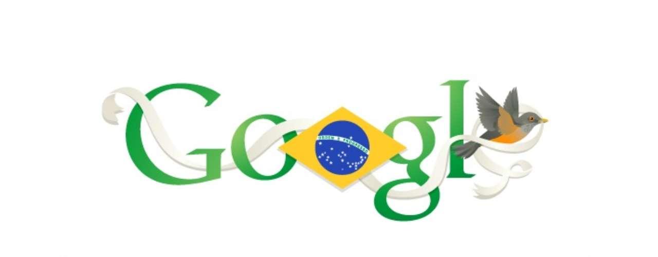 7 de setembro - Google prestou homenagem aos 191 anosda Independência do Brasil