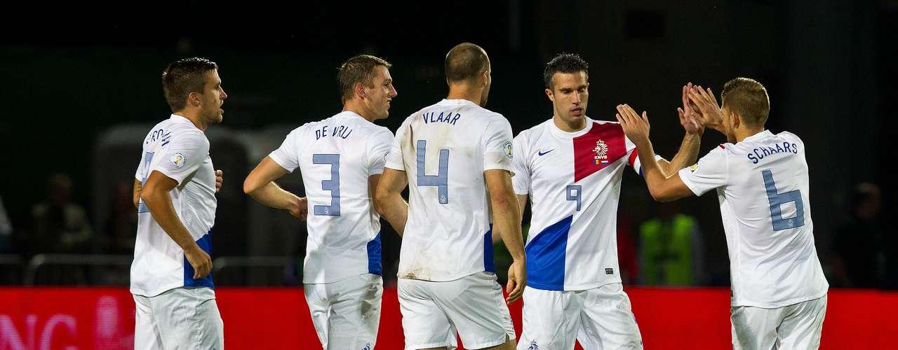 Holanda - campeã do Grupo D das Eliminatórias da Europa